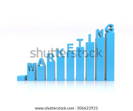 Marketing text on growth chart. - stock photo