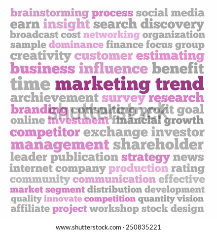 Marketing trend in words collage - stock photo
