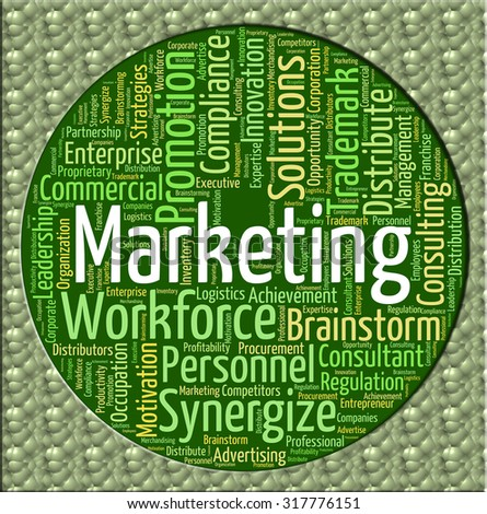Marketing Word Representing Words Wordclouds And Promotion