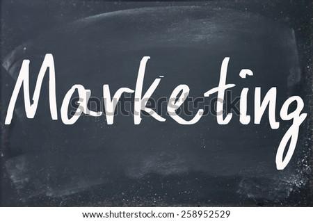 marketing word write on paper  - stock photo