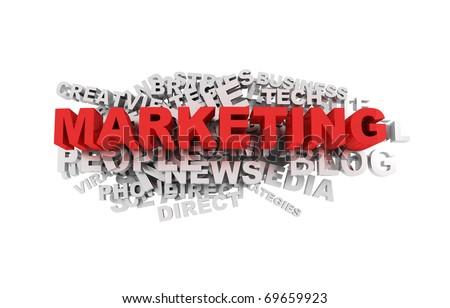 Marketing Words - stock photo