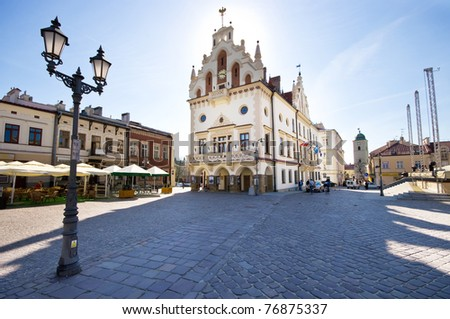 Marketplace in Rzeszow, Poland