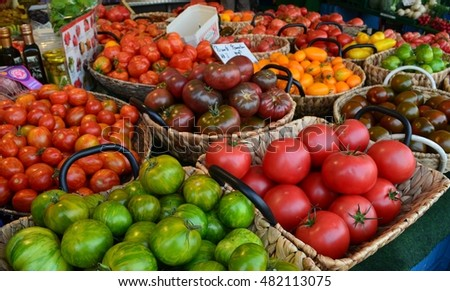 marketplace vegetables and fruits