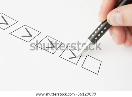 Marking in a Check box with pen