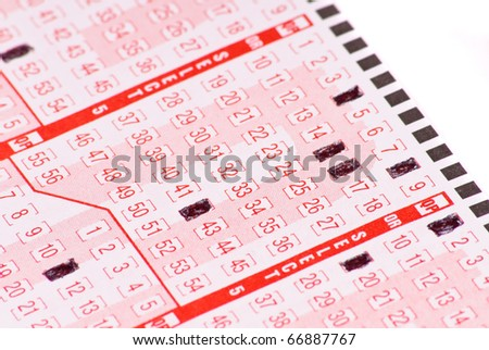 Marking Lucky Numbers - stock photo