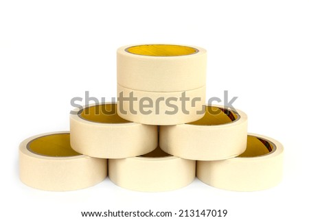 Marking tape isolated on white background - stock photo