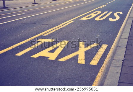 Markings on the road (signs and symbols)  - stock photo