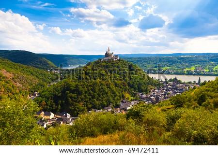 Marksburg Castle, Braubach, Germany - stock photo