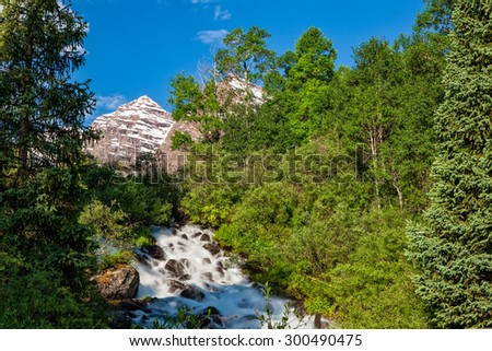 Maroon bells Aspen Colorado Summer Landscape - stock photo