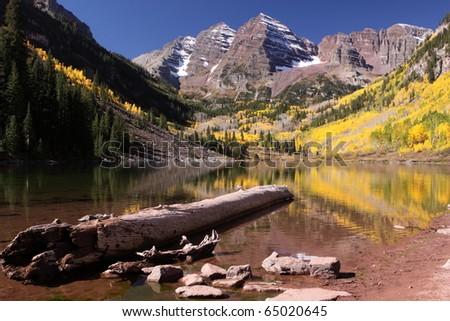 Maroon Bells, Colorado - stock photo