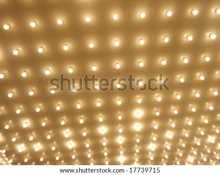 marquee lights - stock photo