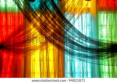Marrakech Curtains - stock photo