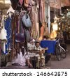 MARRAKESH ,MOROCCO - JUNE 4: Unidentified people in the souk of Marrakesh on June 4, 2013 in Marrakesh. In 2009 the medina got part of UNESCO World Heritage. - stock photo
