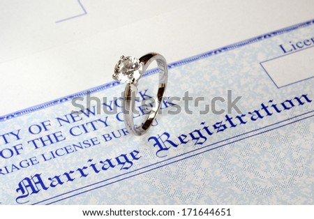 Marriage and money concept of high wedding cost and divorce - stock photo