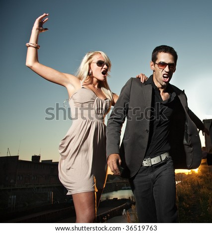 Marriage conflict - stock photo