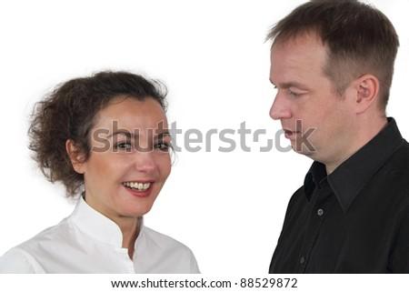 Marriage dispute - stock photo