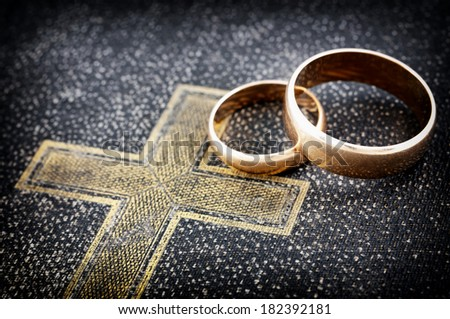Marriage (macro photo) - stock photo