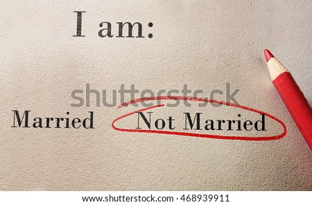 Married or Not Married survey with red pencil