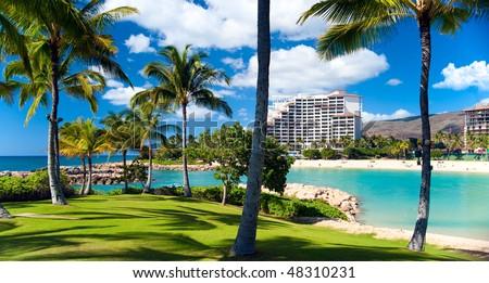 Marriott timeshare resort - stock photo