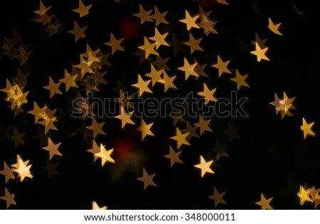 Marry Christmas background with bokeh star light