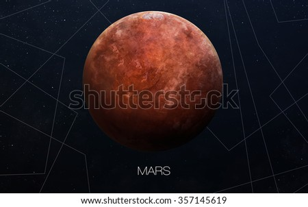Mars - High resolution images presents planets of the solar system. This image elements furnished by NASA. - stock photo