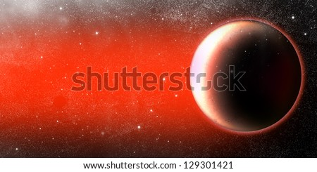 Mars planet illustration - stock photo