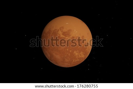 Mars (red planet) - stock photo