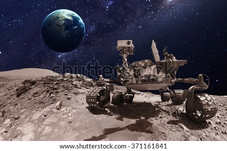 Mars rover. Elements of this image furnished by NASA - stock photo