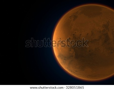 Mars, space, solar system, planet. Element of this image are furnished by NASA