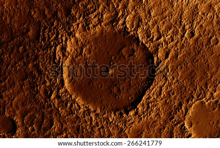 Mars surface - stock photo