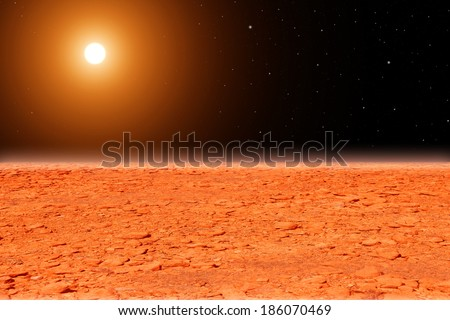 Mars surface, abstract - stock photo