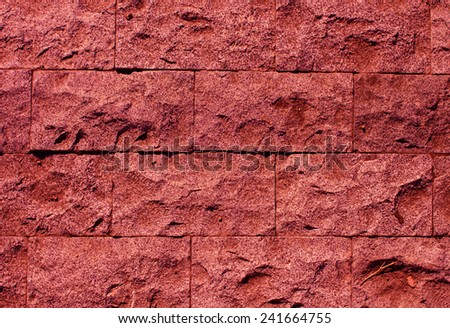 Marsala stone wall texture background - stock photo