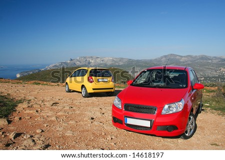 MARSEIILE, FRANCE - FEBRUARY 21, 2008: Two small family cars
