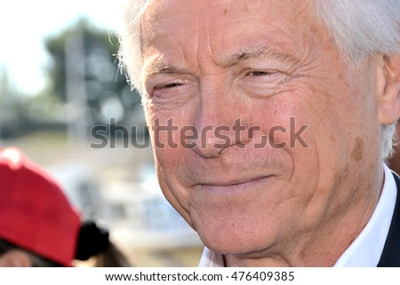 Marseille, France - August 31, 2016 : Eugene Caselli municipal councillor of Marseille. Former president urban community of the Marseille Provence Metropole