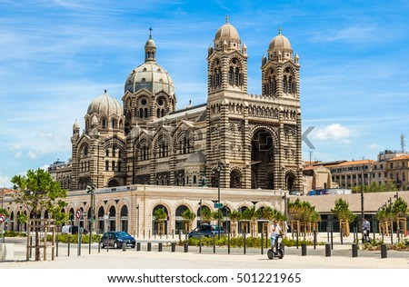 MARSEILLE, FRANCE - JULY 5: Cathedral de la Major, one of the main Catholic cathedral in Marseille on July 5, 2014 in France