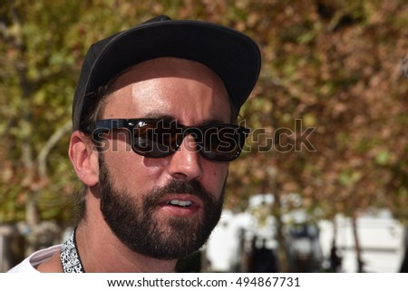 Marseille, France - October 06, 2016 : French cartoonist Jacques Umbdenstock alias Jak at the 5th edition of the International festival of press and political cartoons at l'Estaque.