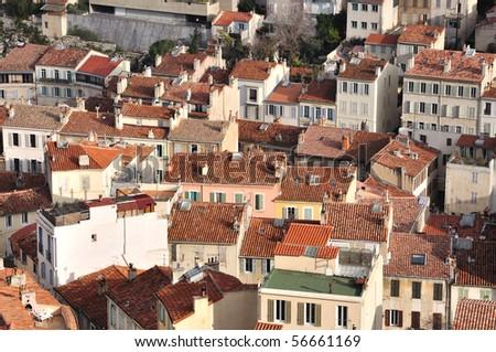 Marseille - houses - stock photo