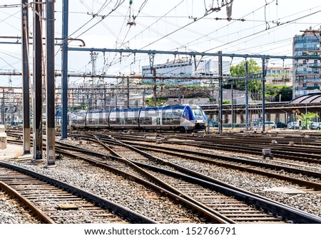 Marseille St. Charles railway station, France - stock photo