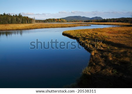 Marshall Brook, Acadia National Park, Maine - stock photo