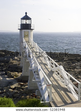 Marshall Point Light Station, Port Clyde Harbor, Maine - stock photo