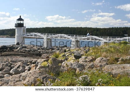 Marshall Point Lighthouse - stock photo