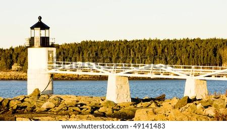 Marshall Point Lighthouse, Maine, USA - stock photo