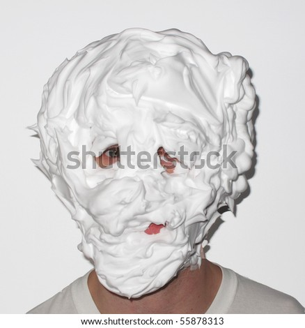 Marshmallow Face - stock photo