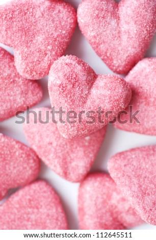 Marshmallow Hearts - stock photo
