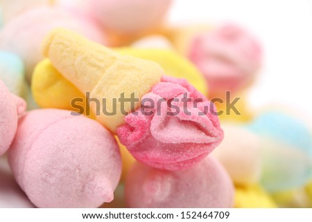Marshmallow in form of ice cream. - stock photo