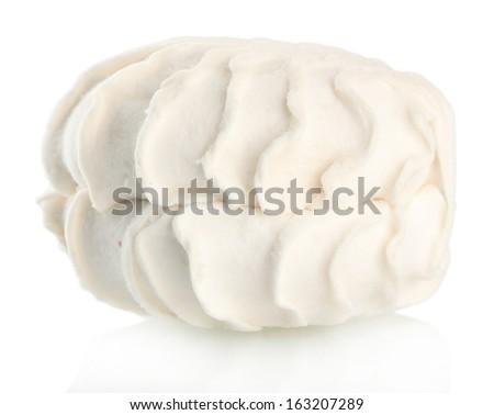 Marshmallow isolated on white