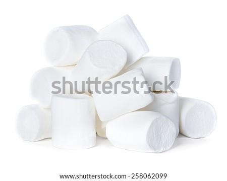 Marshmallow isolated on white background - stock photo