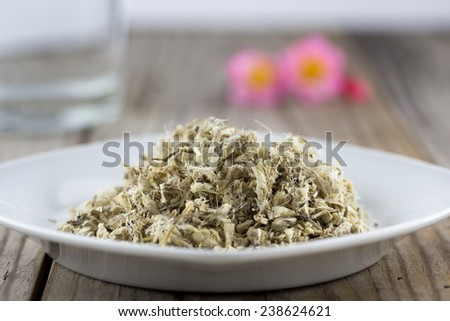 Marshmallow root is a herb used in treating sore throat.