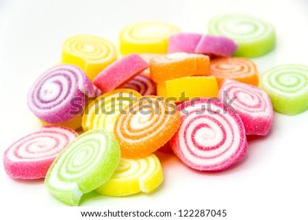Marshmallow with Gelatin Dessert - stock photo
