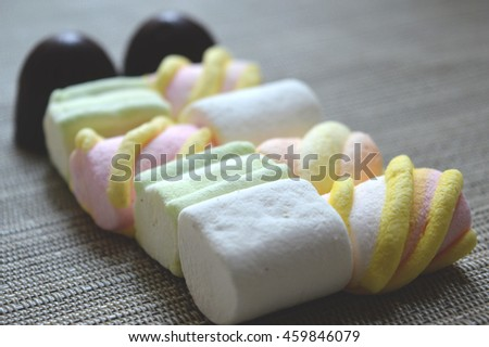 marshmallows and chocolates